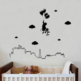 image-Kids Dream Decal Wall Sticker East Urban Home Colour: Light Blue, Size: Large