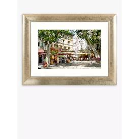 image-Richard Macneil - European Cafe Scene Framed Print & Mount, 61.5 x 81.5cm, Multi