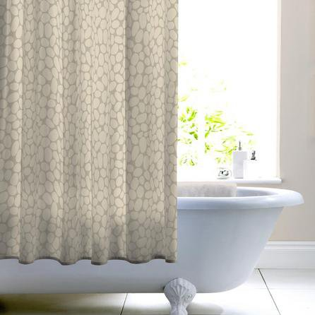 image-Pebble Shower Curtain Natural