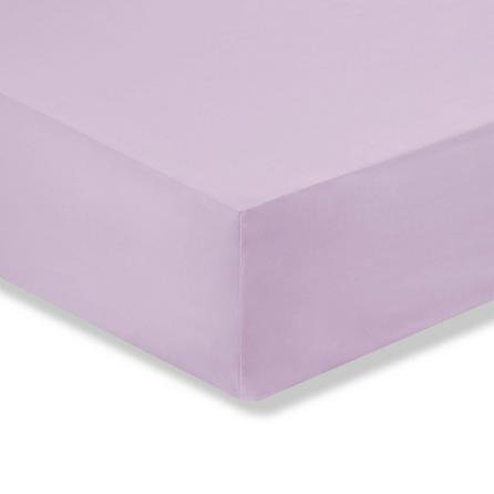 image-Kids Non Iron Plain Dye Lilac Cot Bed Fitted Sheet Lilac (Purple)