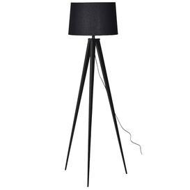 image-Black Metal Tripod lamp