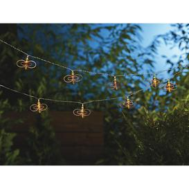 image-Habitat 20 Warm White Bee LED Solar String Lights