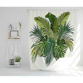 image-Nerys Polyester Shower Curtain Set Bay Isle Home Size: 177cm H x 177cm W