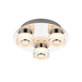 image-Endon Rita 3 Light Flush Remote Control LED Bathroom Ceiling Light