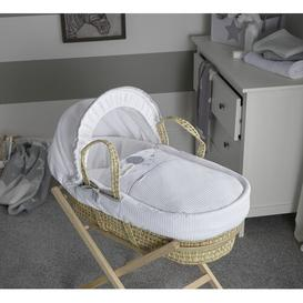 image-Over the Moon Moses Basket Clair De Lune Colour: Grey