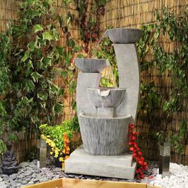 image-Tanvir Resin Water Feature with Light Sol 72 Outdoor Power Source: Solar