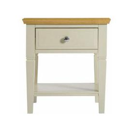 image-Country Cottage Oak 1 Drawer Lamp Table