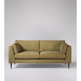 image-Swoon Nero Three-Seater Sofa in Safari House Weave With Dark Feet