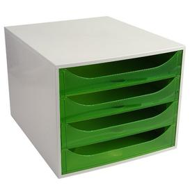 image-Mcdonough Desk Organiser Symple Stuff Colour: Grey/Apple Green