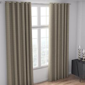 image-Bacon Eyelet Room Darkening Thermal Curtains Marlow Home Co. Colour: Rustic Brown, Panel Size: 168 W x 183 D cm