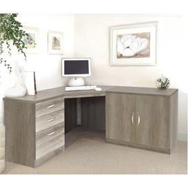 image-Neshev Corner Computer Desk Ebern Designs Colour: Grey