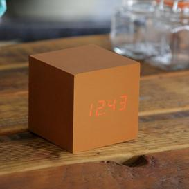 image-Modern Digital Wood Electric Alarm Tabletop Clock Symple Stuff Finish: Copper/Red