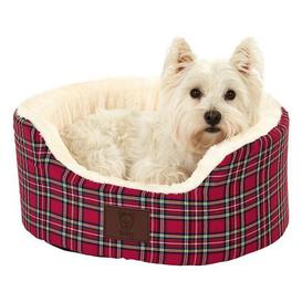 image-Bunty Red Heritage Dog Bed Red