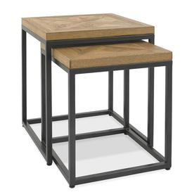 image-Domini 2 Piece Nest of Tables Mercury Row
