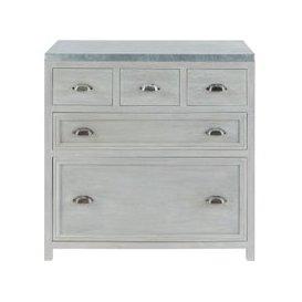image-Grey Acacia Wood Kitchen Base Cabinet W90 Zinc