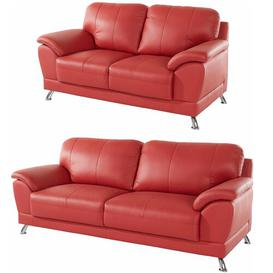image-Ardella 2 Piece Sofa Set Ebern Designs Upholstery Colour: Red