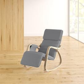 image-Peabody Rocking Chair Zipcode Design Upholstery: Grey
