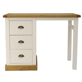 image-Minot 3 Drawer Dressing Table August Grove Colour: Waxed Oak