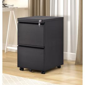 image-Jasso 2 Drawer Filing Cabinet Symple Stuff Colour: Black
