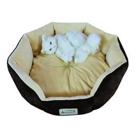image-Ezekiel Cat Bed in Mocha & Beige Archie & Oscar