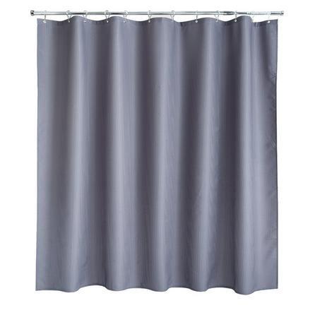 image-Waffle Grey XL Shower Curtain Grey