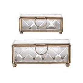 image-Bloomingville Glass Jewellery Box Set
