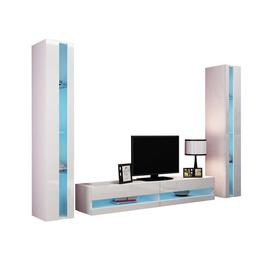 "image-Augustus Entertainment Unit for TVs up to 60"" Wade Logan Built-In Lighting: White LED lighting"