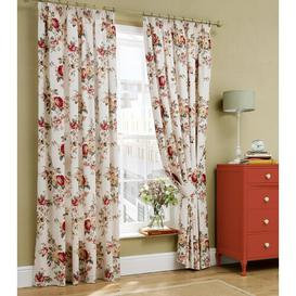 image-Garden Rose Pencil Pleat Room Darkening Curtains Cath Kidston