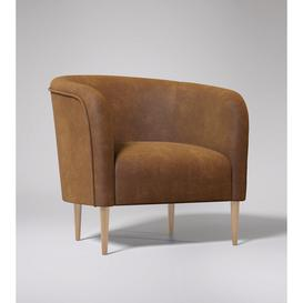 image-Swoon Cecily Armchair in Tan Smart Leather With Light Feet