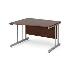 image-Tully II Left Hand Wave Desk, 120wx99/80dx73h (cm), Walnut, Free Delivered & Fully Installed Delivery
