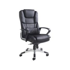 image-Grenero High Back Leather Faced Executive Chair, Black