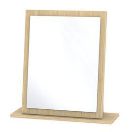 image-Saxena Rectangular Dressing Table Mirror Brambly Cottage Colour: Light Oak