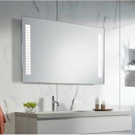 image-Evie LED Illuminated Bathroom Mirror Wade Logan Size: 60cm H x 80cm W x 3.2cm D