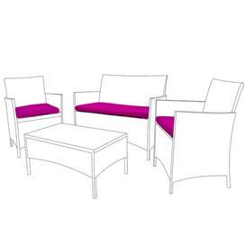 image-Garden Dining Chair Cushion Dakota Fields Colour: Pink