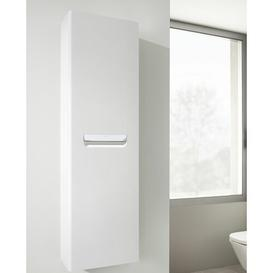 image-The Gap-N 35 x 120cm Wall Mounted Tall Bathroom Cabinet Roca Base Finish: Gloss White
