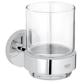 image-Essentials Crystal Glass Toothbrush Holder Grohe