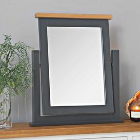 image-Hampshire Blue Painted Oak Dressing Table Mirror