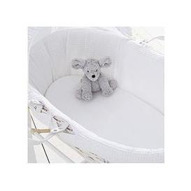 image-Silentnight Pack 2 Jersey Fitted Moses Basket Sheets