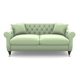 image-Abbotsbury 3 Seater Sofa in Clever Matt Velvet- Sage Green