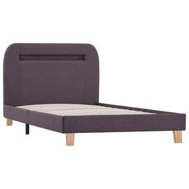 image-Pihu European Single (90 x 200cm) Upholstered Bed Frame Ebern Designs Colour: Taupe