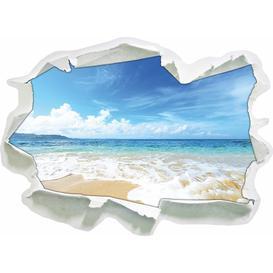image-Sand Beach Waves Sunshine Wall Sticker