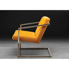 image-Stone International Dafne Leather Occasional Chair