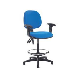 image-Point Draughtsman Chair With Height Adjustable Arms, Havana