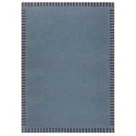 image-Edge Rug - 200 x 300 cm / Blue / Wool