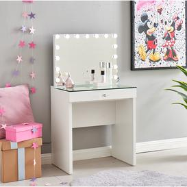 image-KIDS Hollywood Dressing Table & Mirror - White