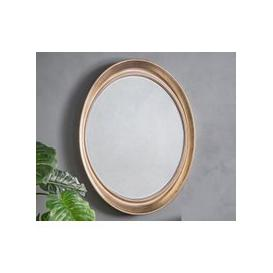 image-Gallery Direct Fiddock Champagne Silver Oval Mirror