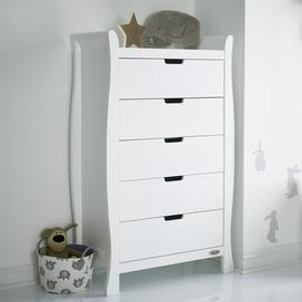 image-Obaby Stamford Sleigh Tall Chest of Drawers - White
