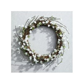 image-White Blossom Wreath, Natural, One Size