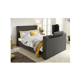 image-Milan Bed Company Brooklyn 5FT Kingsize TV Bed,Charcoal