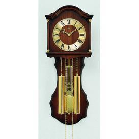 image-Pendulum Clock AMS Uhrenfabrik Colour: Dark brown